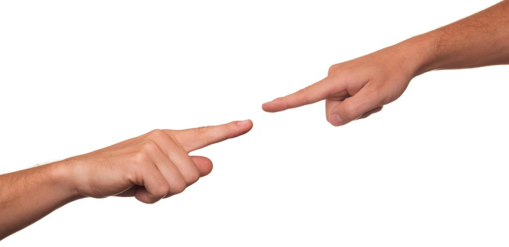 fingers pointing at each other over BC's Family Act and division of property